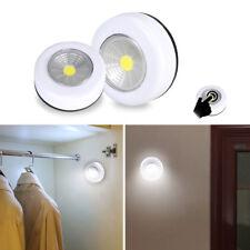Battery Powered Stick On Led Light Touch Push Kitchen Wall Cabinet Closet Lights