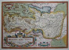 Brixiani Agri Typus - Brescia, Gardasee, Iseosee - Ortelius 1595 - Rare