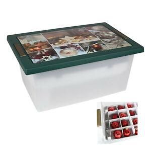 Weihnachtsbox Weihnachtskugel Aufbewahrungskiste Storage Box Organizer Rollenbox