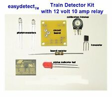 BI-DIRECTIONAL HO SCALE MODEL TRAIN DETECTOR KIT with 12 VOLT 10 AMP RELAY