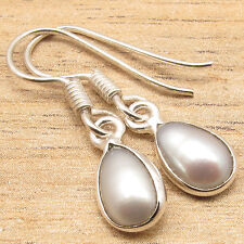 Free Shipping on Additional Items! Silver Plated Pearl MADE IN INDIA Earrings