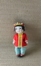 Vintage China Voice Girl Bisque Head Doll Jointed Open Close Eyes Japan