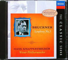 KNAPPERTSBUSCH: BRUCKNER Symphony No.5 WAGNER Siegfried CD Decca Classic Sound