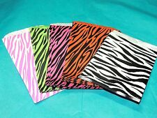 100 5x7 Combo Zebra Party Paper Bags, Animal Striped Colored Gift Kraft Bags 20