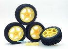 4Pcs 5 Spoke Wheel+Tire+Adaptor Set Fits Mini Inferno Y