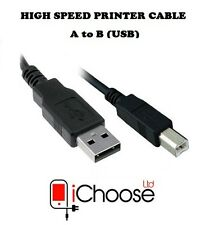 2m Printer Cable High Speed USB A-b 2 Metre Premium Quality - 480mbps - for HP