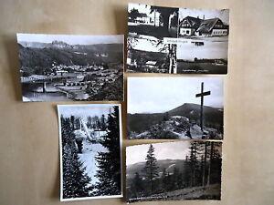 Lot Sammlung DDR Postkarten Vogtland & Erzgebirge 5x Ansichtskarte