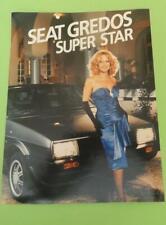 ALIKI VOUGIOUKLAKI SIGNED ADVERTISING BROCHURE 'SEAT GREDOS' SUPER STAR 1990
