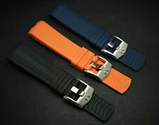 20MM/22MM OMEGA RUBBER STRAP BLUE/BLACK/ORANGE FOR OMEGA SEAMASTER 300 WATCHES