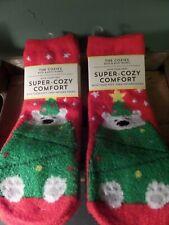 Two Pair Bath & Body Works Shea Infused Super Cozy Comfort Polar Bear Socks New