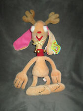 Vintage Ren & Stimpy Show Reindeer Ren Hoek Kohls Plush Stuffed Toy Nickelodeon