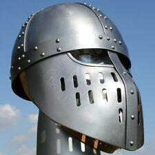 18GA Medieval Viking Mask Helmet Nasal Helmet Replica Halloween Costume Q482