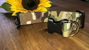 Camouflage Dog Collar Handmade To Order