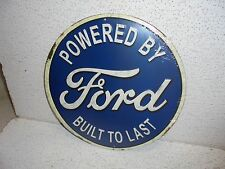 Ford : Powered by Ford Built To Last Metal Sign NICE ITEM
