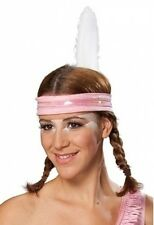 Indianerstirnband - rosa -  Kopfweite: 56 - Karnevalskopfbedeckung