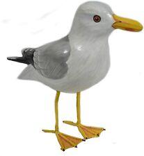 Wood Seagull Handmade Coastal Garden Statue Dockside Bird Yard Art Sculpture