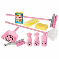 New Casdon Little Helper Hetty Housekeeping 12 Piece Toy Playset Broom Dustpan