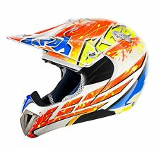 AIROH MR CROSS CARNIVAL KIDS MOTOCROSS HELMET GOLD STAMPED APPROVED