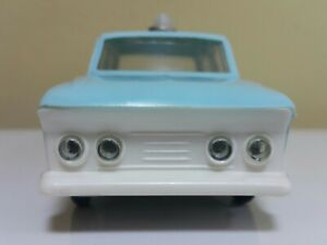 VINTAGE POLICE CAR MOSKVICH TOY FRICTION 60's CCCP USSR SOVIET ERA BULGARIA RARE