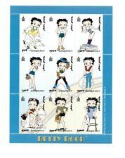 Mongolia 1999 - Betty Boop - Sheet of Nine - MNH