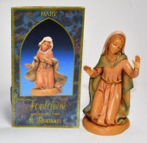 "FONTANINI Depose Italy 5""h Scale 3 Pc MARY JOSEPH BABY JESUS Nativity Set"