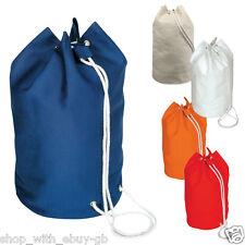 Sailor Drawstring Duffel Yachter Bag 100% Cotton Shoulder Rucksack Backpack Bag