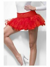 Ladies Tulle Petticoat Red Womens Fancy Dress Fit Size UK 8 - 12