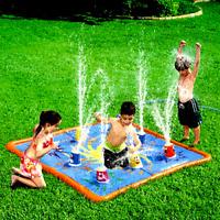 BANZAI SMASH N SPLASH WATER STOMP SPLASH PAD MAT OUTDOOR TOY SPRINKLER LAST! HTF