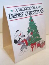 DISNEY CARDBOARD COUNTER DISPLAY CARD MICKEY MOUSE DICKENS CHRISTMAS 1982 2 SIDE