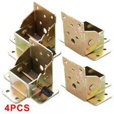 4X Iron Locking Folding Table Chair Leg Brackets Hinges 75mm x60mm x55mm Tools