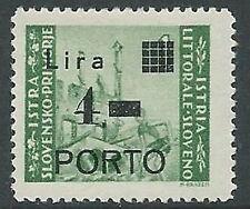 1946 OCC JUGOSLAVA ISTRIA SEGNATASSE 4 LIRE MNH ** - M59