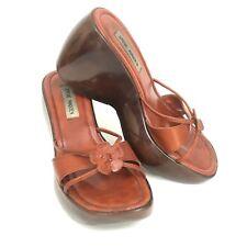 Vintage Steve Madden Rosiee 1990s Chunky Platform Wedge Sandals Sz 9 B