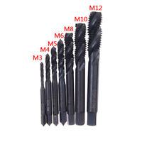 7X Hss Machine Screw Thread Metric Plug Tap Drill Set M3 M4 M5 M6 M8 M10 M12 JE