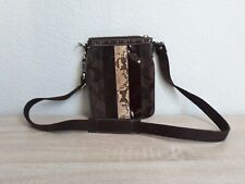 Coach Python patent leather suede crossbody bag No. E06W-10266