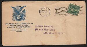 1912 Atlantic City NJ Fraternal Order of Eagles FOE illustrated cover