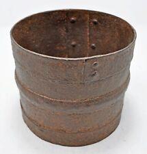 Antique Iron Grain Measurement Pot Paili Original Old Hand Crafted Engraved