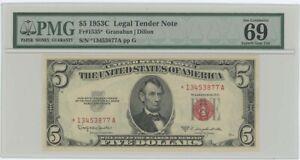 1953C $5 Legal Tender FR#1535* PMG 69 EPQ Superb Gem Star