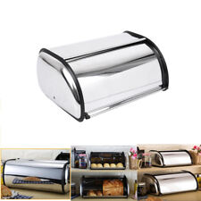 Stainless Steel Bread Box Storage Bin Keeper Food Kitchen Container Silver