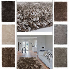 Einfarbige Aktuelles-Design Wohnraum-Teppiche im Hochflor/Shaggy/Flokati-Stil für Spielzimmer