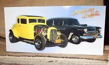 """American Graffiti"" Drag Cars Movie Tabletop Display Standee 10 1/2"" X 5"""