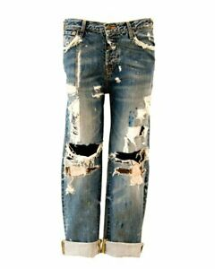 Limited Edition ALL IN ONE Sass & Bide CUSTOM distressed boyfriend jeans RARE