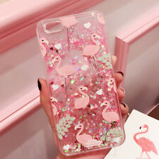Pink Flamingo Dynamic Liquid Glitter Case Cover For iPhone 7 8Plus  6s 6Plus X