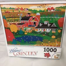 Apple Pond Farm Fall Home Country 1000 Piece Puzzle Complete