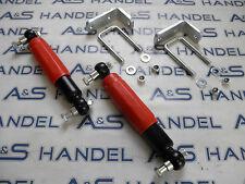2x AL-KO Achsstoßdämpfer rot bis 2000kg Stoßdämpfer inkl Befestigung Halter ALKO