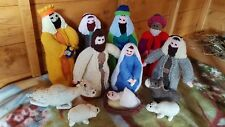 Knitted Christmas Nativity Set