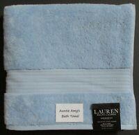 "Ralph Lauren Greenwich~OCEAN TIDE (Blue) Individual Bath Towels~30""x56"" Cotton"