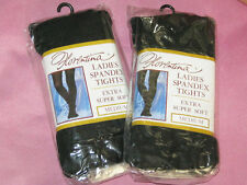 Bargain 4 pairs Spandex Warm Winter Tights. BLACK S/M New Opaque thick 8-12
