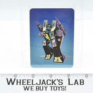 Skywarp Card 101 Variant Color Transformers Action Trading Cards 1985 G1