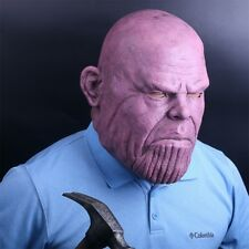 2018 Movie Thanos Mask Avengers Infinity War Cosplay Latex Helmet Halloween