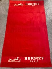 NEW  RED GOLD HERMES BEACH TOWEL 100% COTTON